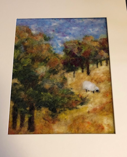 Needle Felting:  Edge of the Field - SOLD OUT