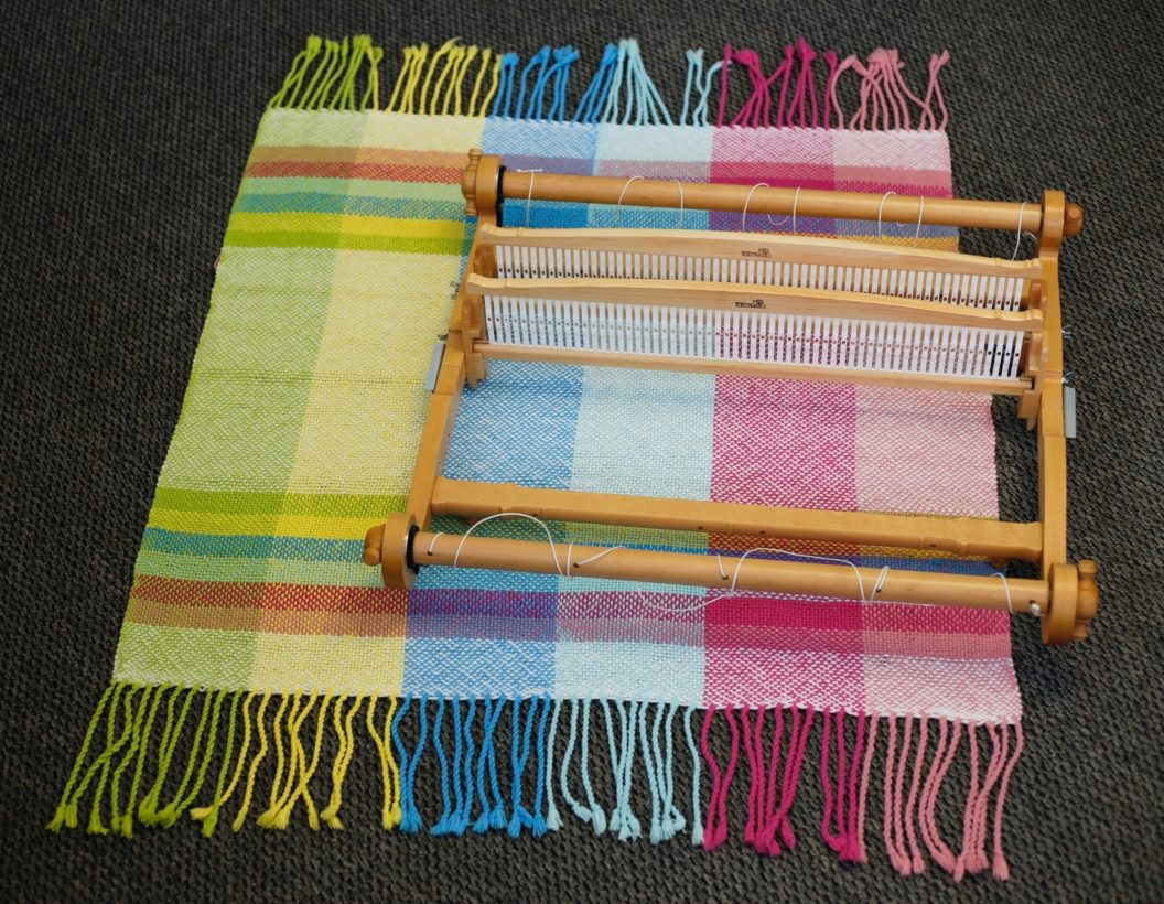 Warping and Weaving:  Two Heddles