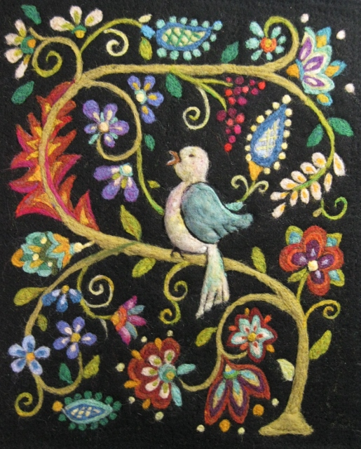 Needle Felting:  Florentine Bird Tapestry - SOLD OUT