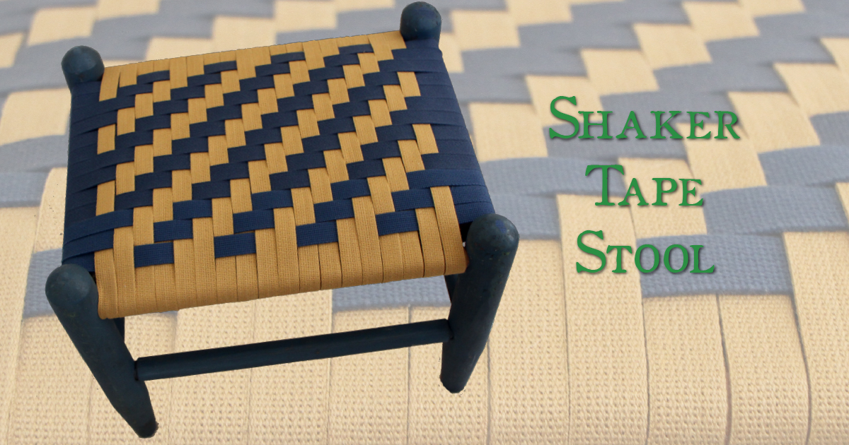 Shaker Tape Colonial Footstool